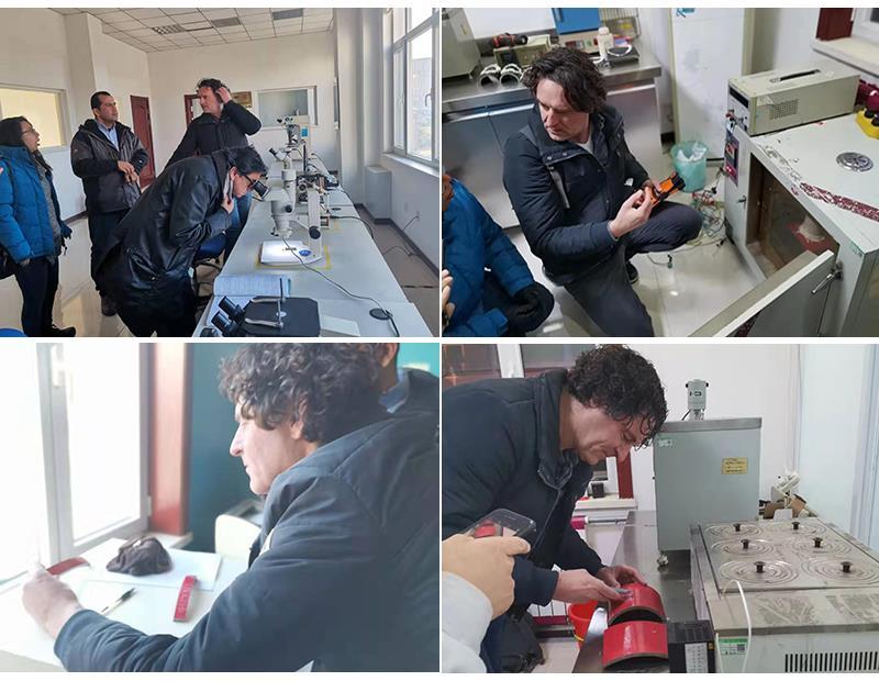 欢迎哥伦比亚的客户来我厂检查产品