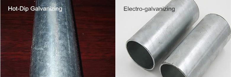 如何区分热镀锌钢管和电镀锌钢管?